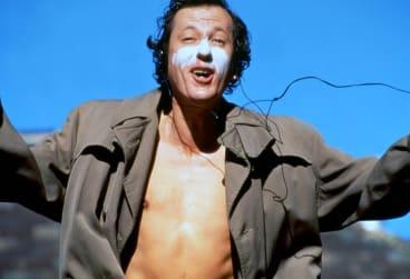 Geoffrey Rush as pianist David Helfgott in <i>Shine</i>.