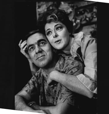 Moya O'Sullivan with Robert Bruning in 1966's <I>The Summer of the 17th Doll</I>.