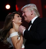 The first couple dance to 'My Way' at the Liberty Ball.