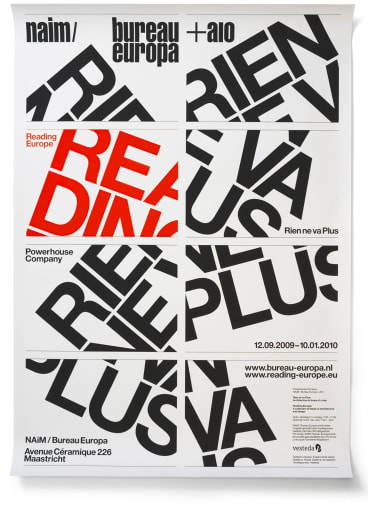 """The Superstructure exhibition celebrates the work of graphic design """"rockstars"""" Experimental Jetset."""