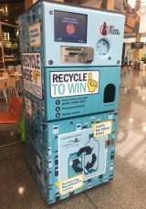 One of the reverse vending machines introduced by Wyndham City Council.