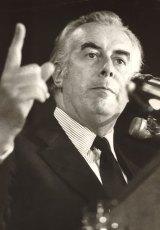 A man of action: Gough Whitlam.