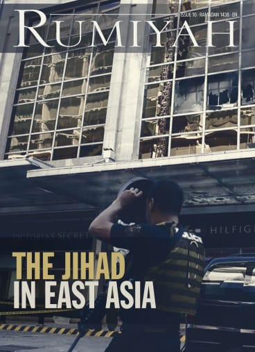 "As its ""caliphate"" in Syria and Iraq disintegrates, Islamic State's magazine Rumiyah focuses on East Asia."