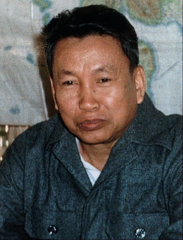 Former leader: Pol Pot, once `Brother Number One' in the Khmer Rouge, photographed in 1979.