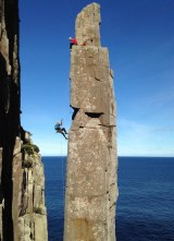 Paul Pritchard suffered paralysing, near-fatal brain damage when hit by a rock on Tasmania's iconic Totem Pole.