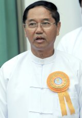 Myint Swe, who led the crackdown on the Saffron Revolution, has been elected vice-president by the powerful Myanmar military.