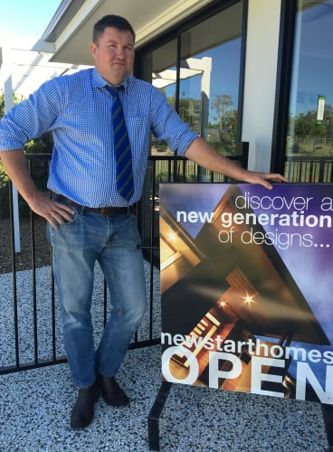 Trond Smith, a sales representative at collapsed Newstart Homes, which was formerly owned by former Family First senator Bob Day.