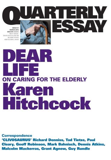 Dear Life, by Karen Hitchcock.