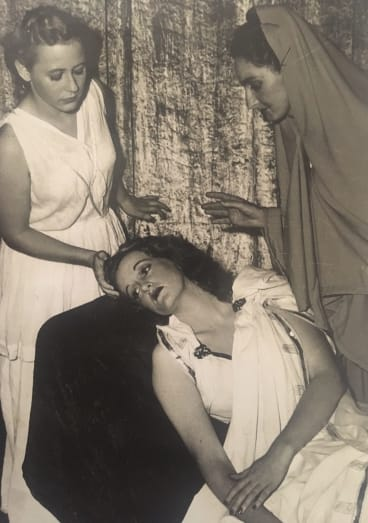 Joy Hruby playing Desdemona in <i>Othello</i> when she was studying at the Whitehall Academy of Dramatic Art.
