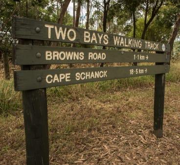 The Two Bays Walking Track traverses the Mornington Peninsula from Dromana, on Port Phillip Bay, to Cape Schanck, on Bass Strait.