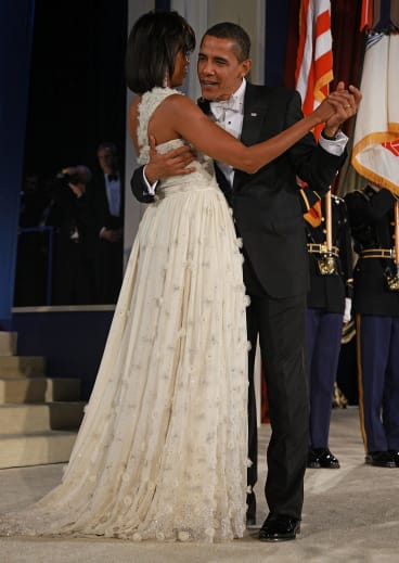 Michelle Obama has worn custom Jason Wu dresses to numerous official functions during her time as First Lady.