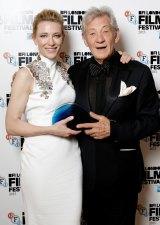 Sir Ian McKellen presented the award to Cate Blanchett.