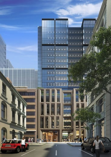 Investa's proposed $110 million, 18-storey office tower at 151 Clarence Street, known as Barrack Place.
