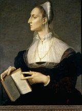 Laura Battiferri (1523-1584) by Agnolo Bronzino (c 1560).