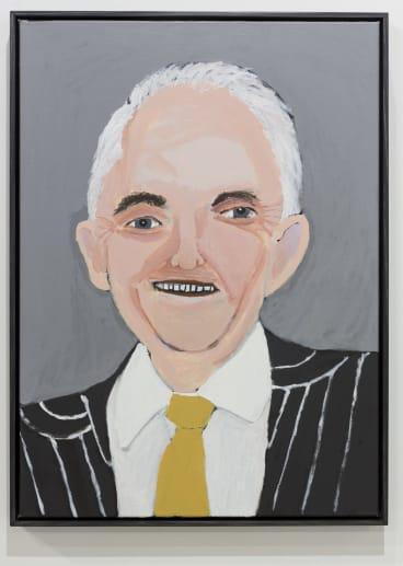 Vincent Namatjira, <i>Malcolm Turnbull</i> 2016, Tarrawarra Biennial 2016.