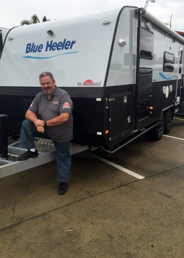 Business is booming for Roy Wyss, of Sunland Caravans.