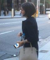 Gladys Berejiklian on her way to work on Monday.