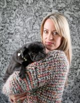 Amanda Campbell with one of her three dogs.