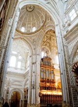 Inside the Mosque-Cathedral of Cordoba.