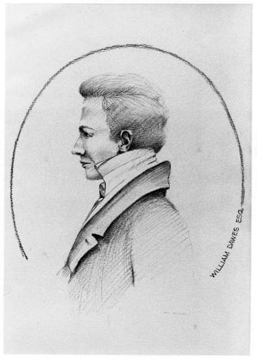 English astronomer William Dawes documented the Aboriginal language of Sydney in his notebooks.