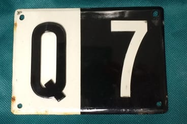 The Q7 number plate is set to be in hot demand.