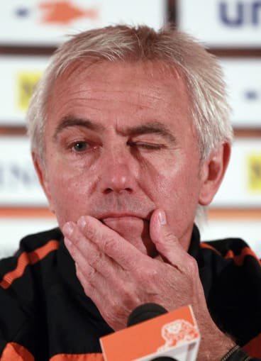 Then Netherlands coach Bert van Marwijk at the World Cup in 2010.