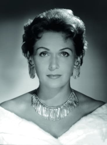 Opera singer Elisabeth Schwarzkopf.