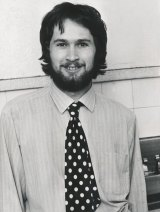Young reporter Malcom Maiden in 1976.