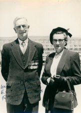 Assets obtained from the Bean Family Collection Charles and Effie Bean, 1953 (courtesy of Anne Carroll OAM)