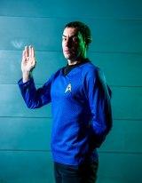 Austrek's David Tonkin as Spock.