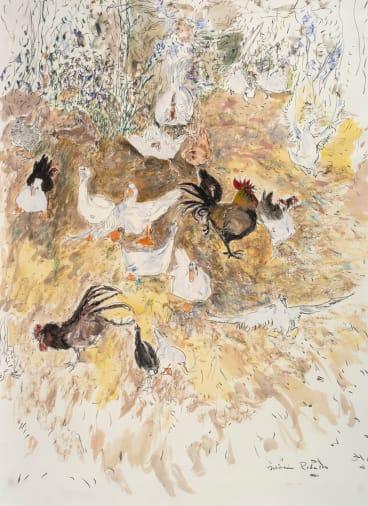Chooks 1, 1980, by William Robinson.