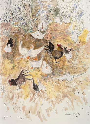 Chooks 1, 1980, by William Robinson.