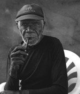 The Aboriginal artist Ngarra.