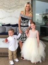 Roxy Jacenko with her children Hunter, 3, and Pixie, 5.