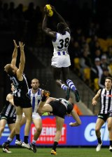 Majak Daw takes a spectacular mark.