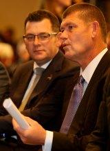 James Packer (R) launching the second Reconciliation Action Plan alongside Victorian Premier Daniel Andrews.