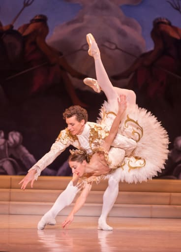 Lana Jones and Kevin Jackson in the Australian Ballet's <i>Sleeping Beauty</i>.