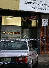 The scene of the murder of solicitor David Robinson in Fairfield, in 2006.