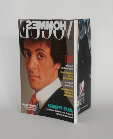 Chris Bond aims to trick viewers with his <i>Vogue Hommes, September 1986, mirror</I>.