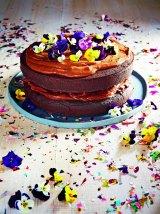 Lola Berry's raw chocolate ganache cake.