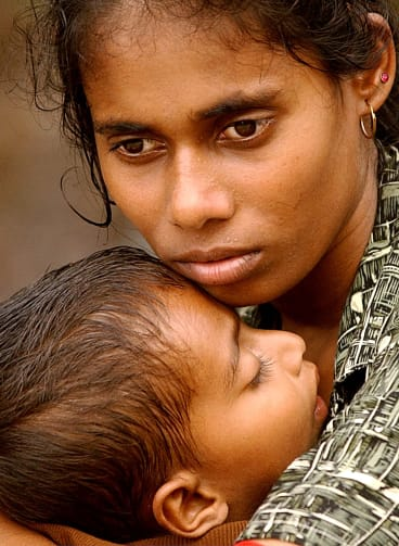 A woman in Sri Lanka after the 2004 tsunami that killed least 137,321 people there.