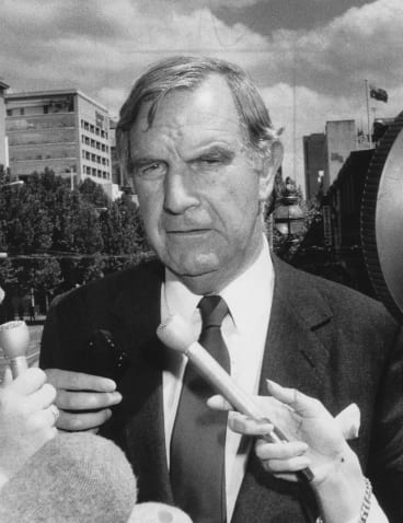 Then-National Party leader Ian Sinclair criticised the Labor Party over the spread of AIDS in 1985.