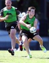 Playing hurt: South Sydney halfback Luke Keary  is battling a foot injury.