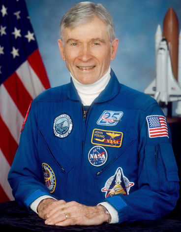 Astronaut and space shuttle commander John Young.
