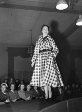 The raised catwalk at this Christian Dior parade at David Jones in July 1948 is one of the inspirations for next month's sit-down season launch.