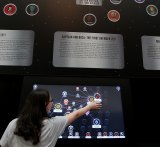 The database of the entire Marvel universe, one of three interactive exhibits created by the QUT team.