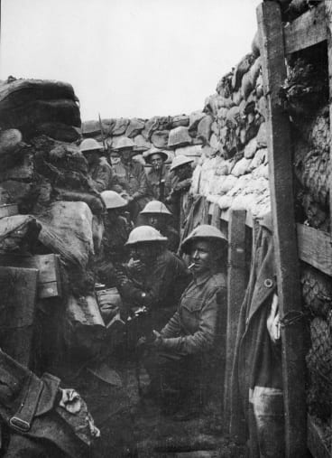 The Fromelles trench.