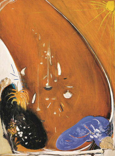 In the bottom of park at Lavender Bay there is a jacaranda and a gardenia tree by Brett Whiteley, 1984-85.
