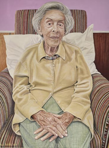 Filippa Buttitta's portrait of Judy Cassab was a finalist in the 2015 Archibald Prize.