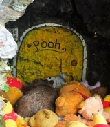 A wombat at Pooh Corner.